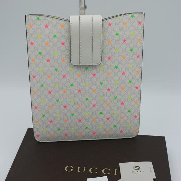 85867edfcbe10e Gucci Accessories | Micro Gg Supreme White Multi Stars Sleeve | Poshmark